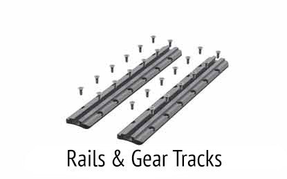 Rails and gear tracks