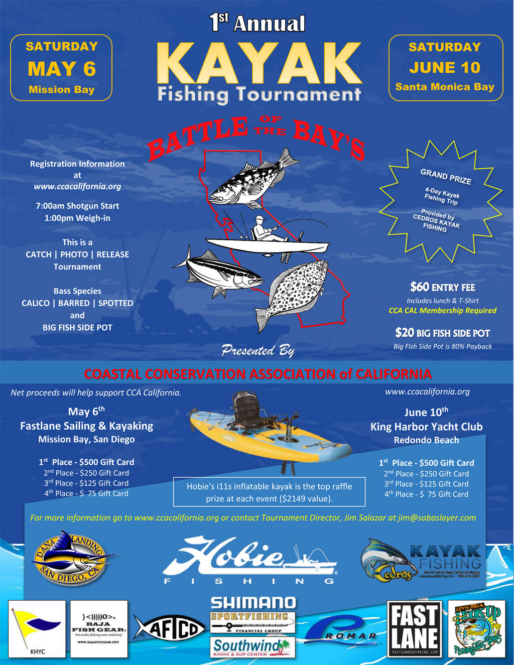 CCA Kayak Fishing Tournament