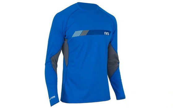 Paddling Apparel - NRS Men's H2Core Silkweight LS Shirt Blue