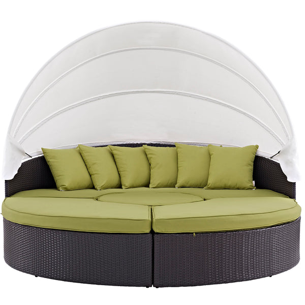 Quest Canopy Outdoor Patio Daybed - Espresso Peridot