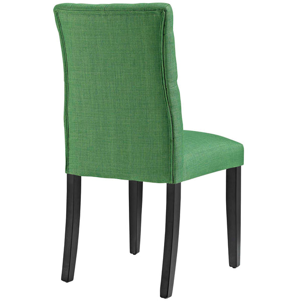 Duchess Fabric Dining Chair in Green