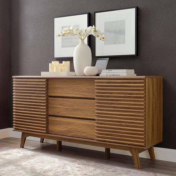 "Render 63"" Sideboard Buffet Table or TV Stand - Walnut"