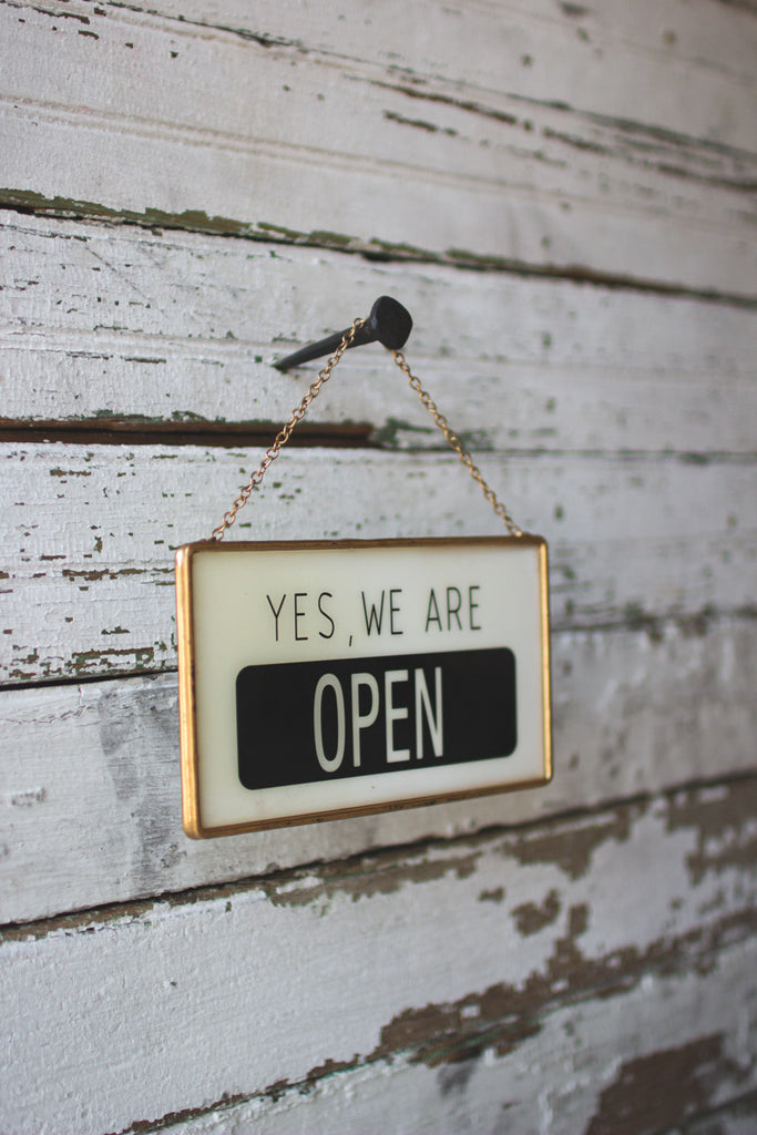 We Are Open/closed Sign