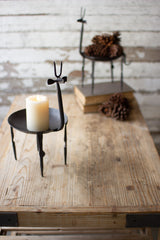 Iron Deer Candle Stand