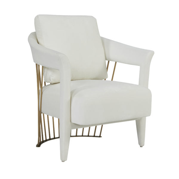 Aztec Cream Velvet Chair