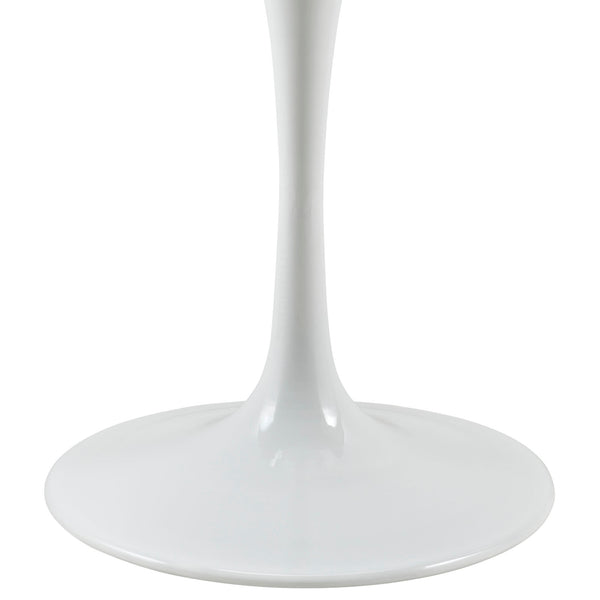 "Lippa 36"""" Artificial Marble Dining Table in White"