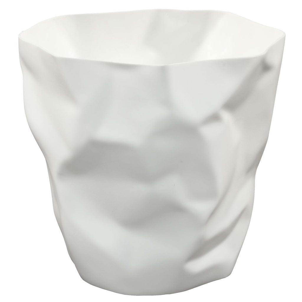 Lava Trash Bin in White