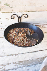 Forged Iron Bird Feeder with Wall Mount
