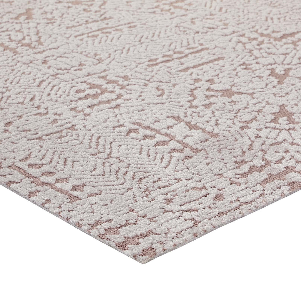 Javiera Contemporary Moroccan 8x10 Area Rug - Ivory and Cameo Rose