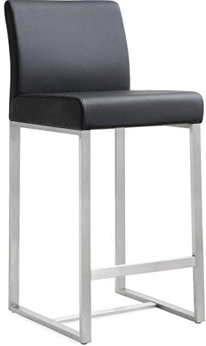Denmark Black Steel Counterstool (Set of 2)