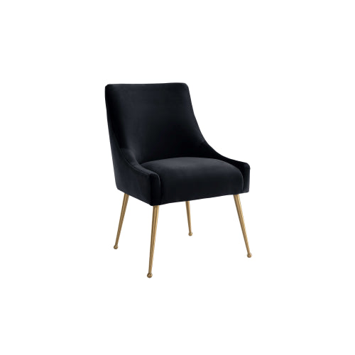Beatrix Black Velvet Side Chair
