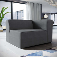 Mingle Fabric Right-Facing Sofa - Gray
