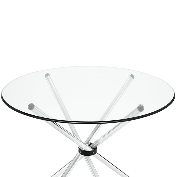 Baton Dining Table in Clear
