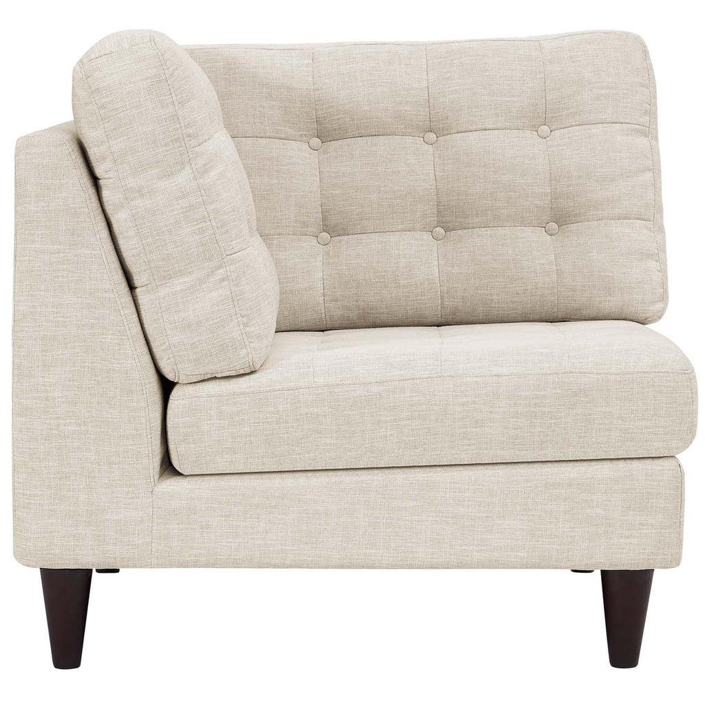 Empress Upholstered Fabric Corner Sofa - Beige