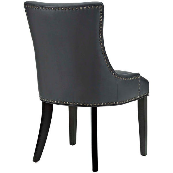 Marquis Faux Leather Dining Chair in Black