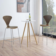 Passage Dining Bar Stool Set of 2 - Walnut
