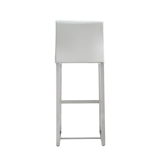 Denmark White Steel Barstool  (Set of 2)