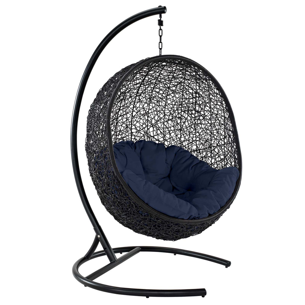 Encase Swing Outdoor Patio Lounge Chair - Navy