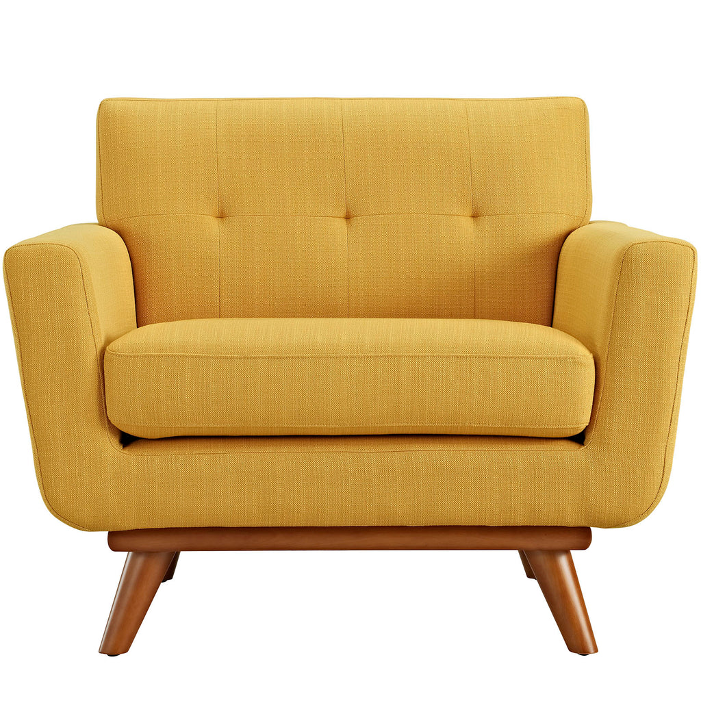 Engage Upholstered Armchair in Citrus