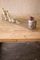 Rectangle Raw Metal Wire Basket