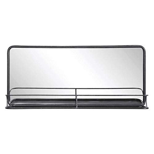 Rectangular Metal Wall Mirror with Shelf – Double Vanity Bathroom Mirror