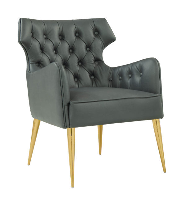 Elsa Grey Vegan Leather Chair
