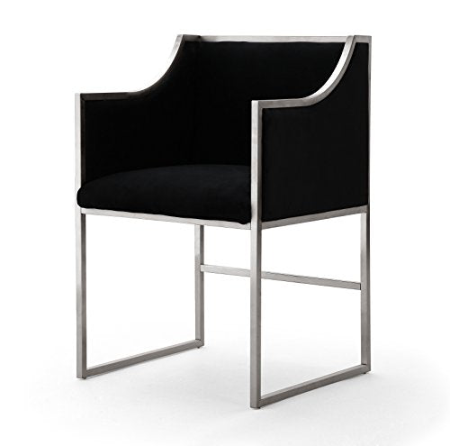 Atara Back Velvet Silver Chair