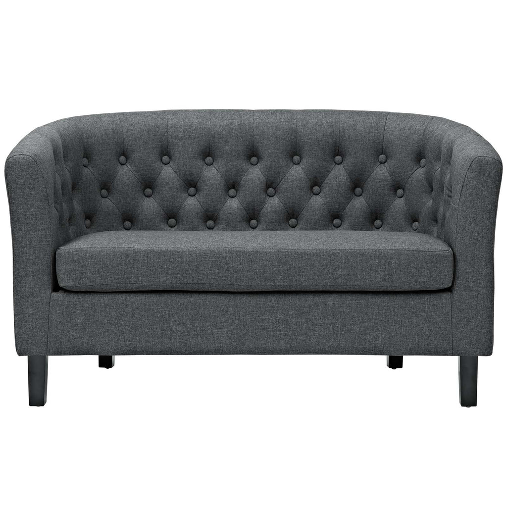Prospect Upholstered Fabric Loveseat - Gray