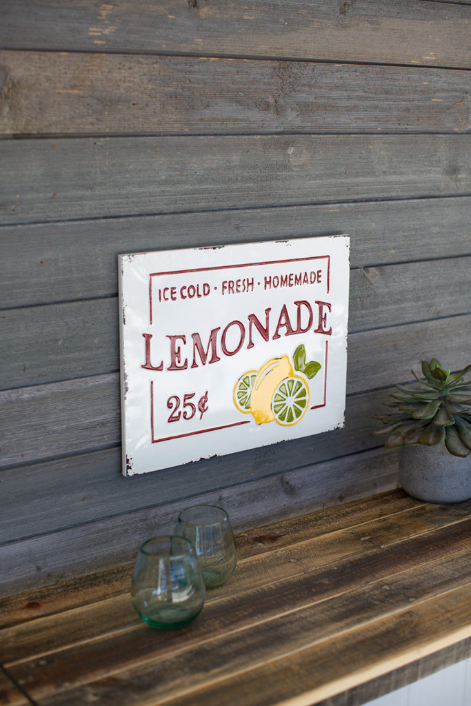 Enamelware - Lemonade Sign
