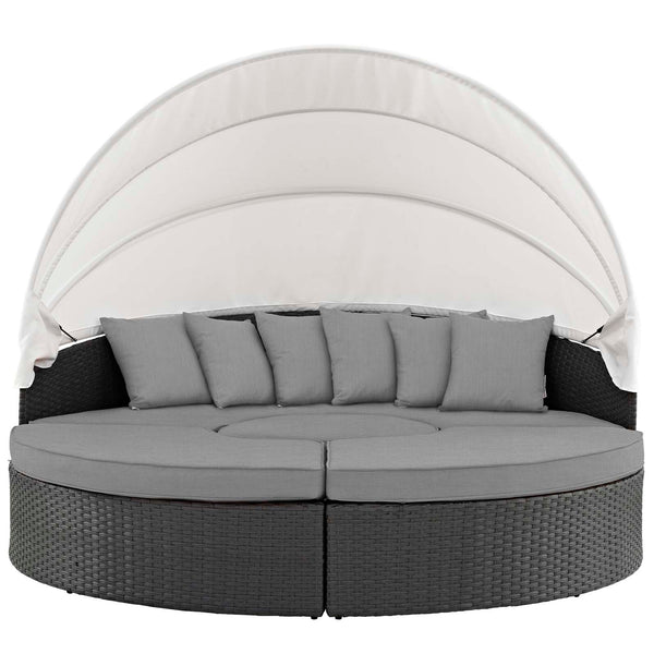 Sojourn Outdoor Patio Sunbrella Daybed - Canvas Gray
