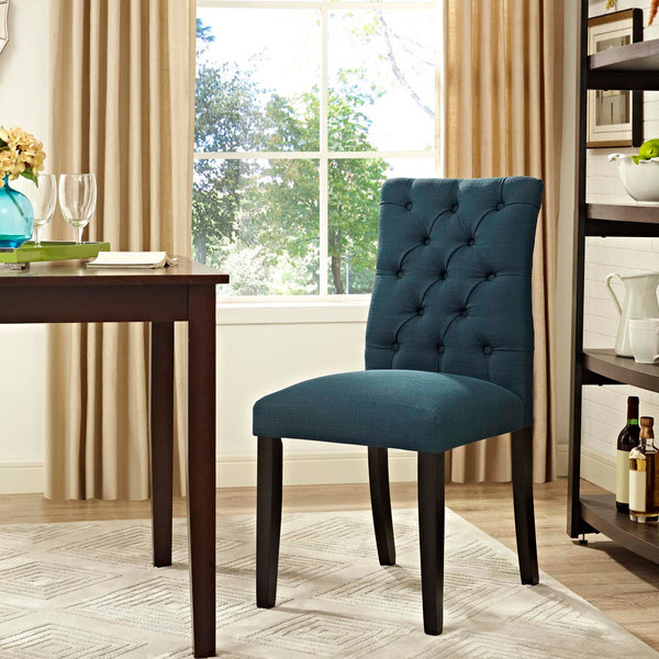Duchess Fabric Dining Chair in Azure