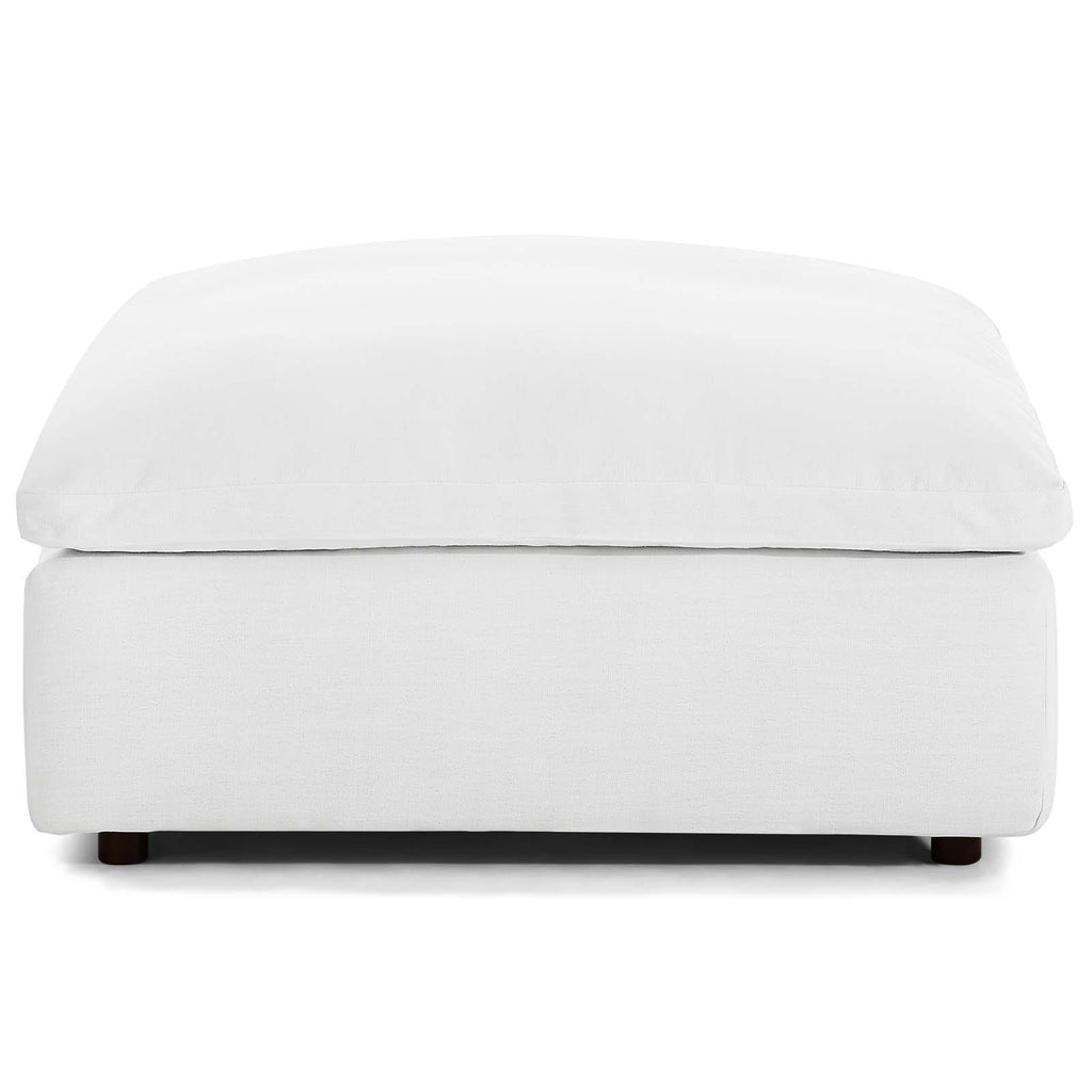 Commix Down Filled Overstuffed Ottoman - White