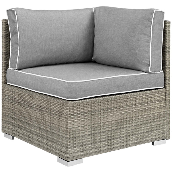 Repose 8 Piece Outdoor Patio Sectional Set - Light Gray Gray