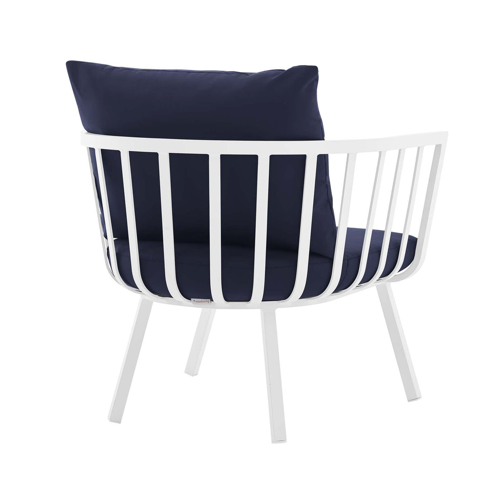 Riverside 6 Piece Outdoor Patio Aluminum Set - White Navy