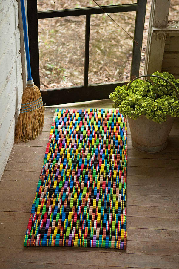 RECYCLED FLIP FLOP LARGE DOOR MAT