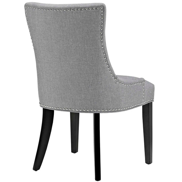 Marquis Fabric Dining Chair in Light Gray