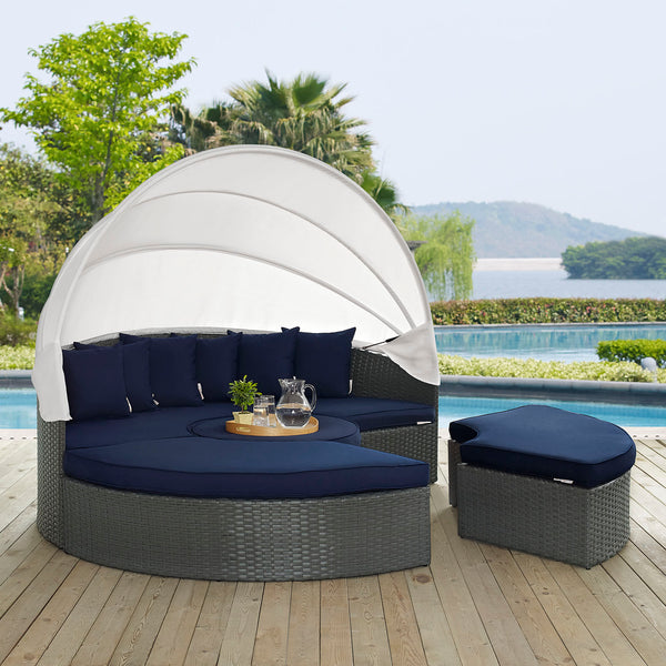 Sojourn Outdoor Patio Sunbrella Daybed - Canvas Navy
