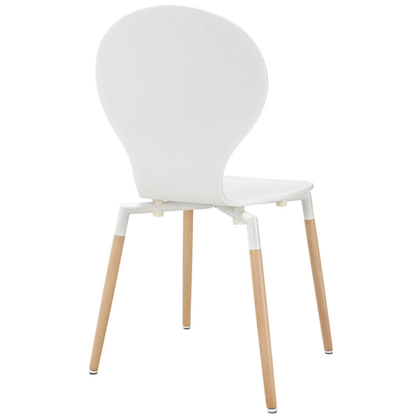 Path Dining Wood Side Chair in White