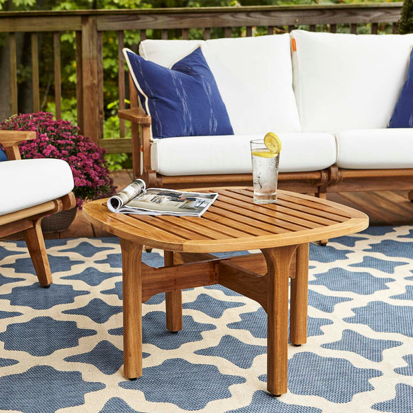 Saratoga Outdoor Patio Teak Coffee Table - Natural