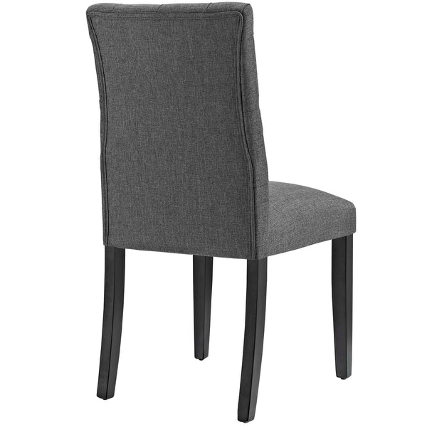 Duchess Fabric Dining Chair in Gray