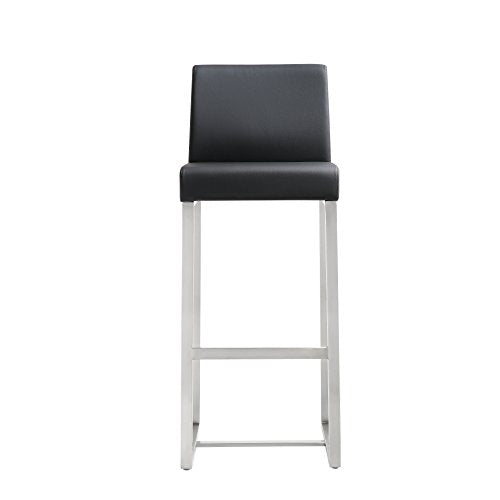 Denmark Black Stainless Steel Barstool (Set of 2)
