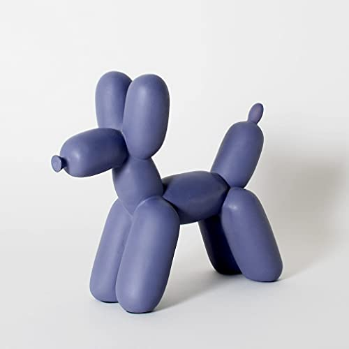 Balloon Dog Sculpture - Ceramic Dog Statues, Accents Dog Figurine (Purple)