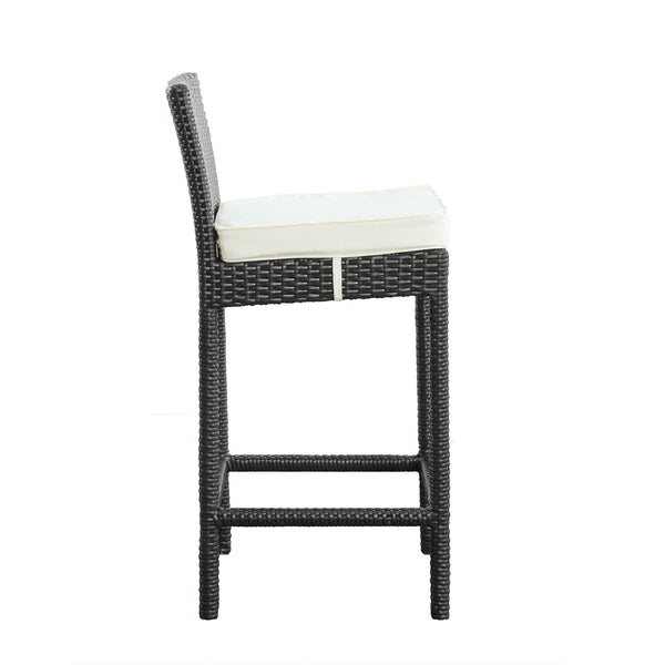 Lift Bar Stool Outdoor Patio Set of 2 - Espresso White