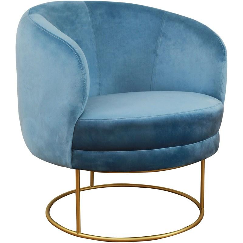 Bella Blue Velvet Accent Chair