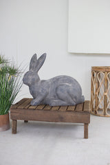 Faux Stone Sitting Rabbit