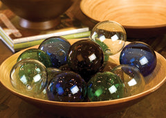 RECYCLED GLASS BALL-BLUE