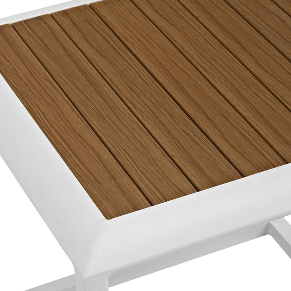Stance Outdoor Patio Aluminum Side Table - White Natural