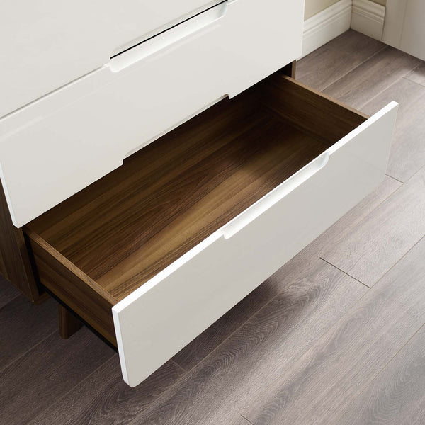 Origin Four-Drawer Chest or Stand - Walnut White