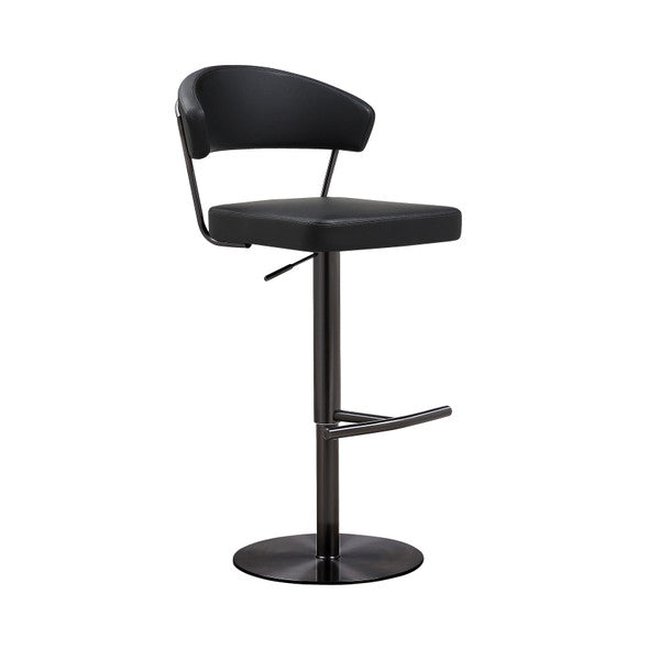 Cosmo Black on Black Steel Barstool