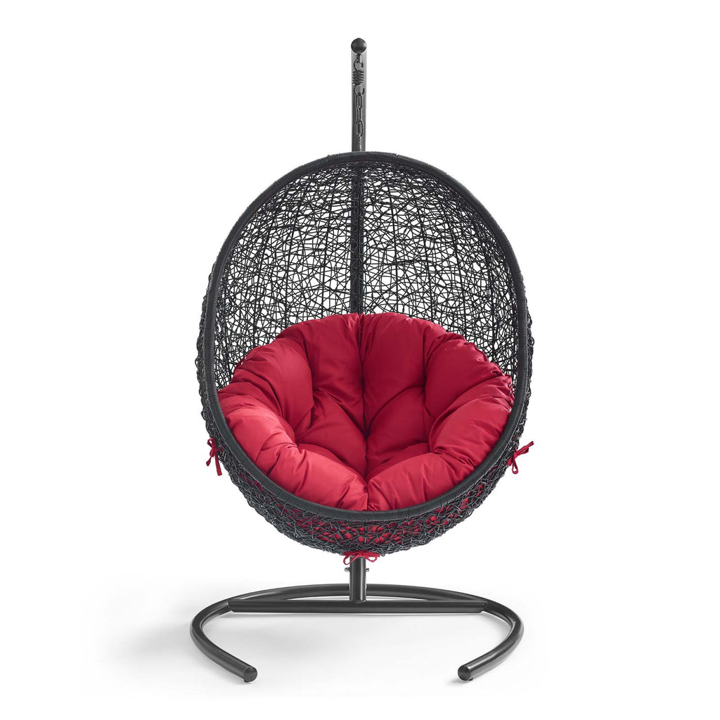 Encase Swing Outdoor Patio Lounge Chair - Red